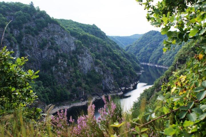 De schoonheid van de Gorges de la Dordogne, foto genomen bij Gratte Bruyere