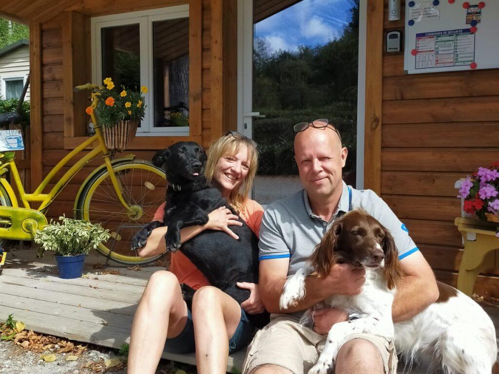 Johan en Carla. eigenaren van Camping Chantegril
