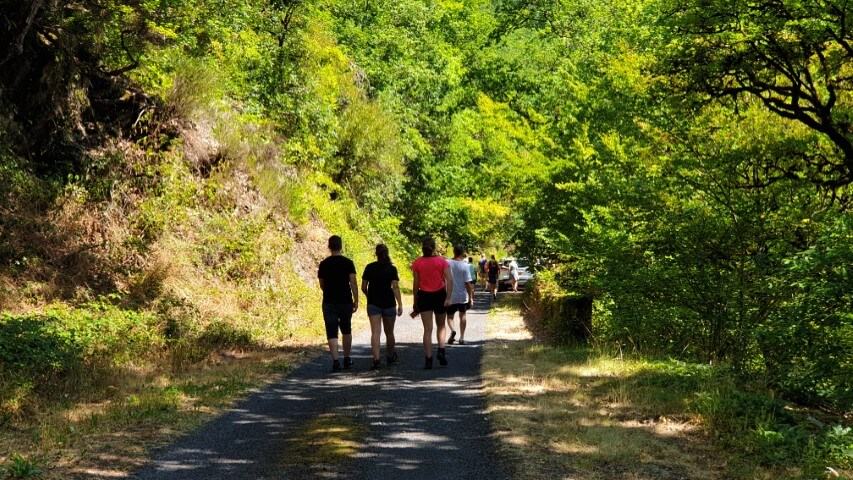 Gemeenschappeling wandeling met onze familiecamping in Frankrijk